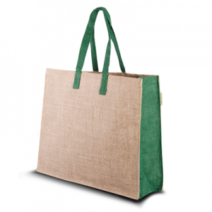 Sac de jute a accents verts Green 1114